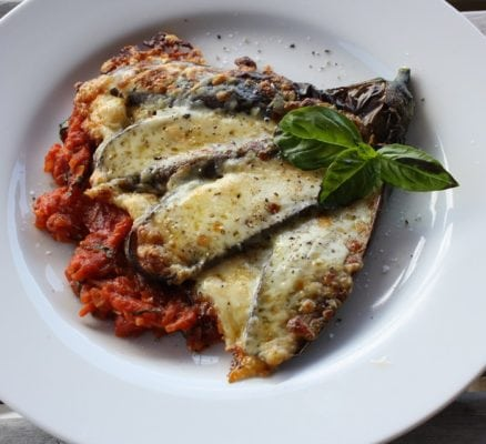 Fried Eggplant with Tomato Sauce