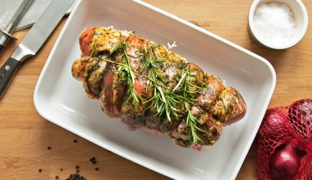 Juicy Chicken Roulade with Apples and Mustard
